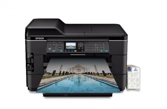 изображение МФУ Epson WorkForce WF-7520 Refurbished by Epson с СНПЧ и чернилами