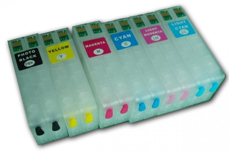 Перезаправляемые картриджи для Epson PP100Перезаправляемые картриджи EPSON PP-100 изготовлены по аналогии с оригинальными картриджами, однако имеют обнуляющиеся чипы, которые позволяют дозаправлять каждый картридж снова и снова, до нескольких сотен раз.<br>