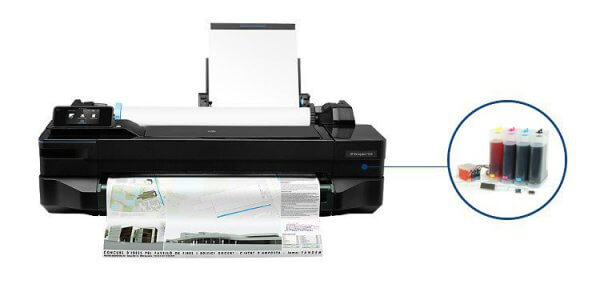 Плоттер HP DesignJet T120 с СНПЧ