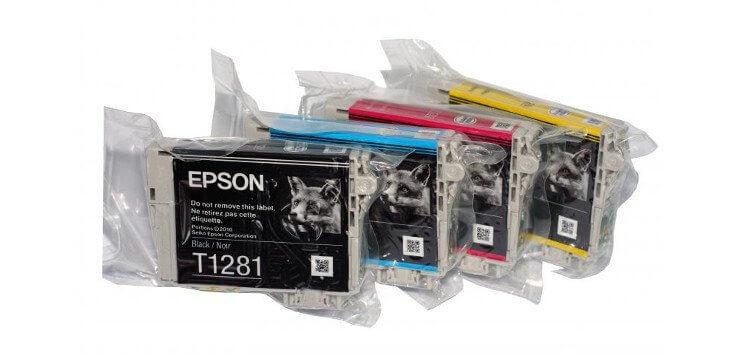 Комплект оригинальных картриджей для Epson Stylus S22 (c13t12854010) фото