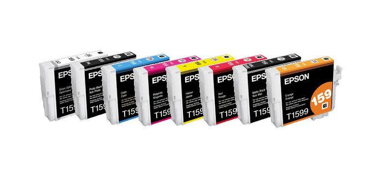 Комплект оригинальных картриджей для Epson Stylus Photo R2000 оригинальные подлинный epson epson r2000 разбирать картриджа для epson t1590 t15