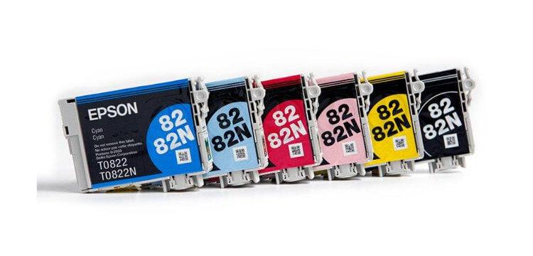 Комплект оригинальных картриджей для Epson Stylus Photo R390