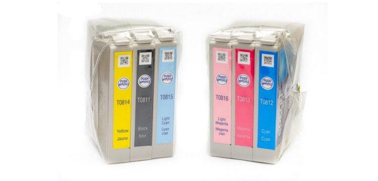 Комплект оригинальных картриджей для Epson Stylus Photo 1410 комплект оригинальных картриджей для epson stylus photo t50