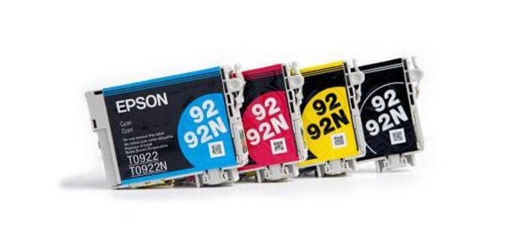 Комплект оригинальных картриджей для Epson Stylus C91 (c13t10854a10) фото