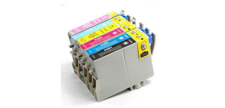 Комплект оригинальных картриджей для Epson Stylus Photo RX600 картридж epson t009402 для epson st photo 900 1270 1290 color 2 pack