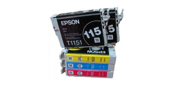 Комплект оригинальных картриджей для Epson Stylus Office T1100 комплектующие для принтеров epson me1100 t1100