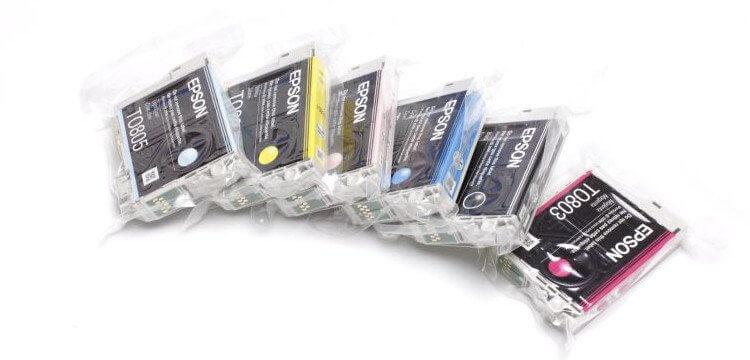 Комплект оригинальных картриджей для Epson Stylus Photo PX730WD перезаправляемые картриджи для epson stylus photo px730wd