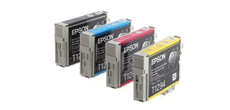 Комплект оригинальных картриджей для Epson WorkForce WF-7015 100% original printhead print head f190020 for epson printer wf 7525 wf 7520 wf 7521 wf 7015 wf 7510 7015 7510 printer head