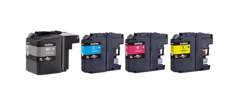 Комплект оригинальных картриджей для Brother DCP J100 лента ламинирования brother tz211 tze211 6мм для pt 1010 1280 1280vp 2700vp