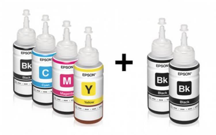 Оригинальные чернила для Epson L455 (70 мл, 4 цвета)Оригинальные чернила для Epson. цвета: Cyan, Magenta, Yellow, Black (3 шт), емкость баночек - по 70 мл.<br>