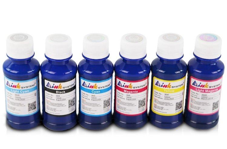 Комплект пигментных чернил INKSYSTEM для мелованной бумаги (Art-ink) 100 мл (6 цветов)