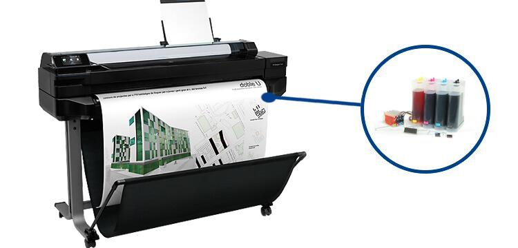 Плоттер HP Designjet T520 36 с СНПЧРаспечатка рекламных материалов, чертежей, печать иллюстраций для выставки или оформление точек продаж... Какая бы ни была задача - эта 4-х цветная широкоформатная машина обеспечит износостойкость репродукций и их впечатляющее качество. Разрешение отпечатков составит 2400 x 1200 т/д. При этом девайс поддерживает возможность печати на рулонах разнообразной толщины с максимальной шириной в 914 мм.<br>
