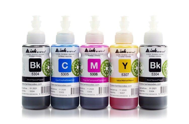 Светостойкие чернила INKSYSTEM для фотопечати 100мл (5 цветов)